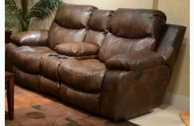 Catalina Timber Power Reclining Loveseat with Console