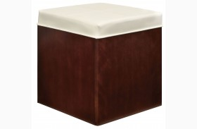 Soho Dark Brown Upholstered Storage Stool