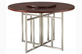 Soho Dark Brown Round Table with Lazy Susan