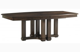 Crestaire Porter Lola Double Pedestal Extendable Dining Table