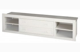 Smartstuff White Storage Unit with Side Rail Panel
