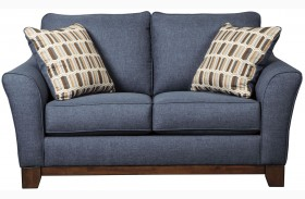 Janley Denim Loveseat