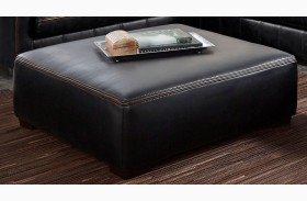 Tucker Black Cocktail Ottoman