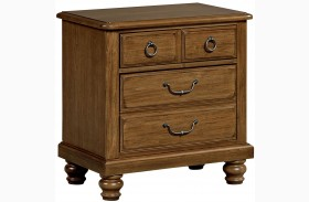 Arrendelle Antique Cherry 2 Drawer Nightstand