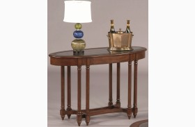 Canton Heights Dark Berry Oval Sofa Table
