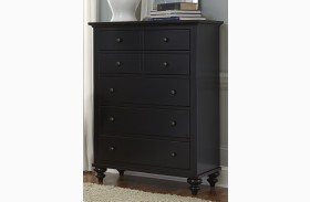 Hamilton III Black 5 Drawer Chest