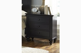 Hamilton Iii Black 3 Drawer Nightstand