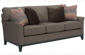 Perspectives Cognac Chenille Fabric Sofa