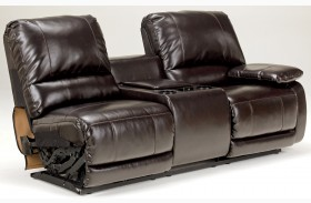 Capote DuraBlend Chocolate RAF Double Power Reclining Loveseat