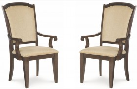 Sophia Upholstered Ribbon Back Arm Chair Set of 2
