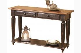 Country Vista Antique Black and Golden Sofa Table