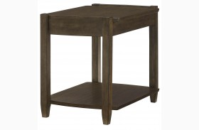 Alba Graphite Oak Rectangular Drawer End Table