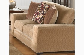 Prescott Oatmeal and Brick Loveseat