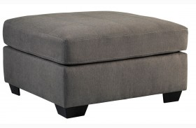 Maier Charcoal Oversized Accent Ottoman
