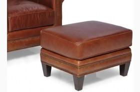 Pendleton Trends Coffee Leather Ottoman