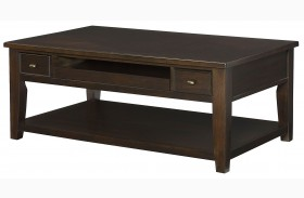 Boulevard Chocolate Brown Rectangular Cocktail Table