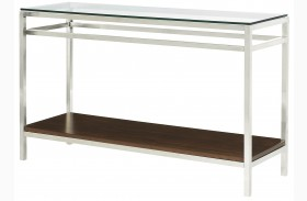 Xpress Sable & Satin Nickel Sofa Table
