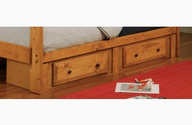 Wrangle Hill Amber Wash 2 Drawer Underbed Storage