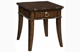 Elaina Rustic Cherry Drawer End Table