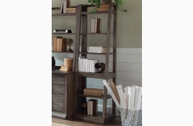 Stone Brook Rustic Saddle Leaning Bookcase