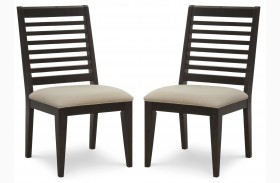 Helix Slat Back Side Chair Set of 2