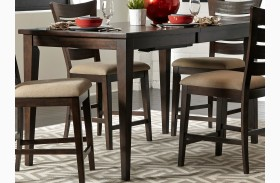 Pebble Creek II Weathered Tobacco Extendable Gathering Table