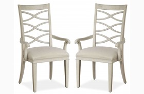 California Malibu X-Back Arm Chair Set of 2