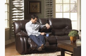 Arlington Mahogany Reclining Loveseat with Console