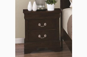 Louis Philippe Rich Cappuccino Nightstand