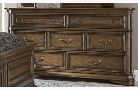 Amelia Antique Toffee 7 Drawer Dresser