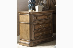 Amelia Antique Toffee 2 Drawer Nightstand