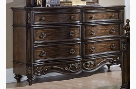 Chamberlain Court Rich Auburn 8 Drawer Dresser