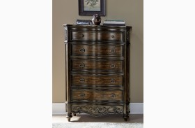 Chamberlain Court Rich Auburn 6 Drawer Lingerie Chest