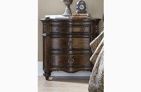 Chamberlain Court Rich Auburn 3 Drawer Nightstand