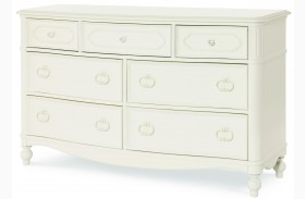 Harmony Antique Linen White 7 Drawer Dresser