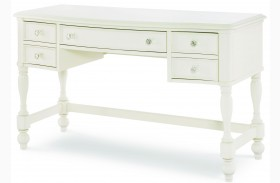 Harmony Antique Linen White 3 Drawer Desk