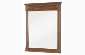 Big Sur Saddle Brown Vertical Mirror