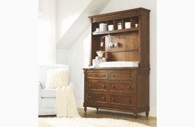 Big Sur Saddle Brown 6 Drawer Dresser with Hutch