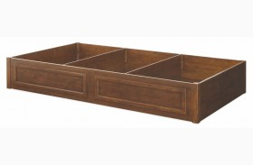 Big Sur Saddle Brown Underbed 3 Drawer Storage