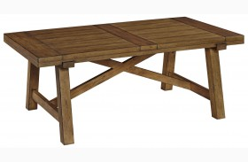 Bethany Square Brown Rectangular Cocktail Table