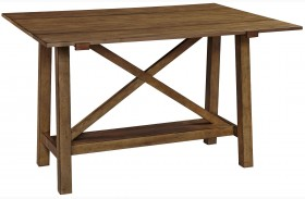 Bethany Square Brown Console Desk Table