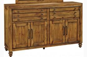 Bethany Square Brown Door Dresser