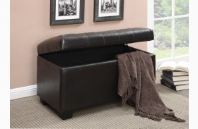 500948 Dark Brown Storage Ottoman