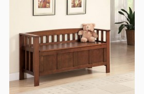 Walnut Storage Bench 501008