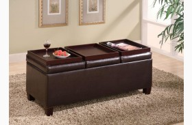 Brown Ottoman 501036