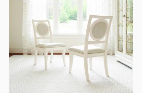 Tower Suite Pearl Upholstered Back Side Chair Set of 2