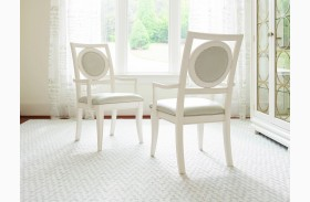 Tower Suite Pearl Upholstered Back Arm Chair Set of 2