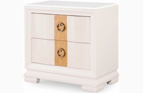 Tower Suite Pearl 2 Drawer Nightstand
