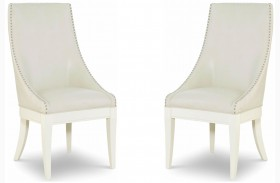 Tower Suite Pearl Upholstered Host Chair Set of 2