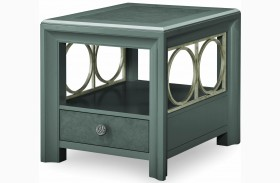 Tower Suite Moonstone 1 Drawer End Table